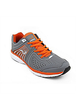 Woodworm Sports Flame Mens Running Shoes / Trainers - Grey