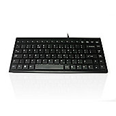 Accuratus 395 USB Black Super Slim Mini Keyboard with Square Modern Keys