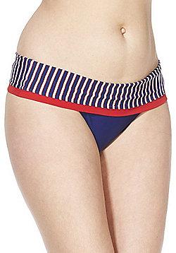 Curvy Kate Ahoy Fold-Over Bikini Briefs - Blue