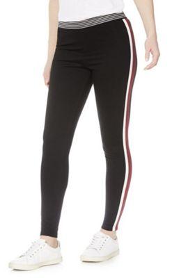 F&F Side Stripe Leggings Black 14