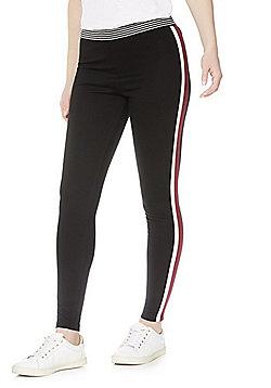 F&F Side Stripe Leggings - Black