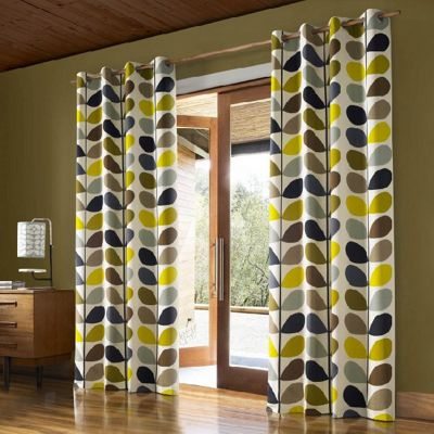 Orla Kiely - Multi Stem - Duck Egg - Eyelet Curtains - 46x54