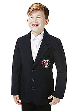 Boys Embroidered Blazer - Navy