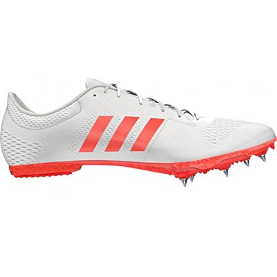 adidas adizero Middle Distance Track & Field Running Spike Shoe White - UK 10
