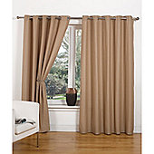 Hamilton McBride Canvas Unlined Ring Top Curtains - Taupe