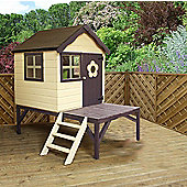 4 x 4 Sutton Tower Wooden Playhouse + Ladder (4ft x 4ft) - Fast Delivery - Pick A Day