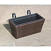 Hand Woven Rattan Window Basket - Small