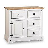 ValuFurniture Corona 1 Door 4 Drawer Sideboard - White