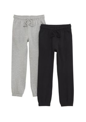 F&F 2 Pack of Joggers with As New Technology Black/Grey 5-6 years