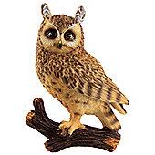 30cm Wall-Mountable Realistic Polyresin Eagle Owl Garden Ornaments
