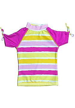 Banz 'Sun Blossom' Short Sleeve UV Rash Top - Pink - Multi