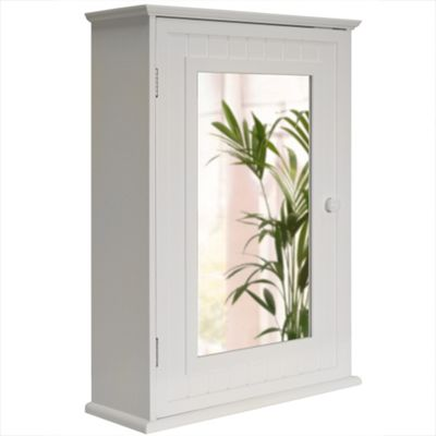 Tallula - White Mirror Bathroom Wall Storage Cabinet