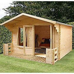 Mercia Studio Wooden Log Cabin, 11x12ft