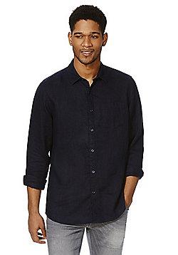 F&F Linen Shirt - Navy