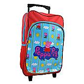 Peppa Pig 'Bicycle' School Travel Trolley Roller Wheeled Bag