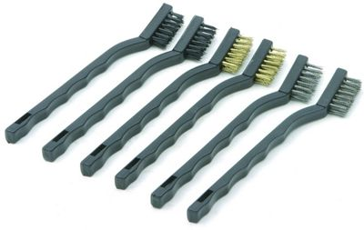Rolson Set of 6 175mm Mini Wire Brush