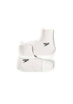 Speedo Shaped Latex Socks Unisex White - White