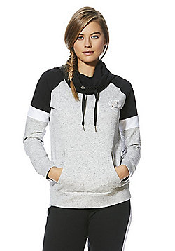 F&F Active Believe Slogan Flecked Sweat Top - Grey