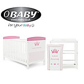 Obaby Grace Inspire 2 Piece Room Set and Changing Mat - Little Princess
