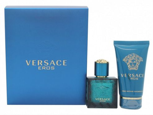 Versace Eros Gift Set 30ml EDT Spray + 50ml Shower Gel For Men