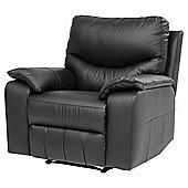Chilton Leather Armchair Recliner, Black