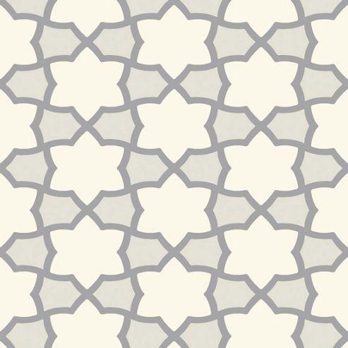 Tropics Rio Geometric Wallpaper - Silver - Arthouse 690701