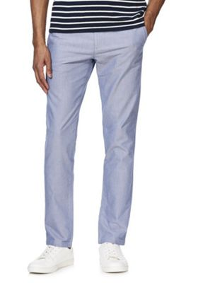 F&F Stretch Slim Fit Chinos Blue 46 Waist 32 Leg