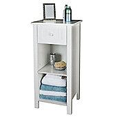 Sennen Open Shelf Cabinet, White
