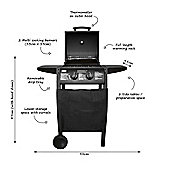 Charles Bentley Deluxe Black 2 Burner Gas BBQ
