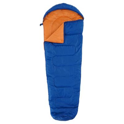 Tesco 200gsm Mummy Sleeping Bag Blue