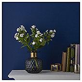 Fox & Ivy Small Diamond Cut  Teal Vase