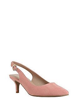 F&F Sensitive Sole Slingback Kitten Heels - Pink