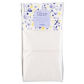 Tesco Moses Basket 2 Fitted Sheets, Cream