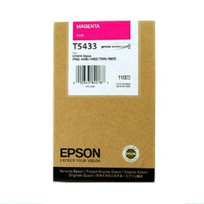 Epson UltraChrome T5433 Magenta Ink Cartridge (110ml) for Epson Stylus Pro Photo 7600