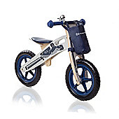 KinderKraft Runner Motorcycle Balance Bike (Plus accessories) - Blue