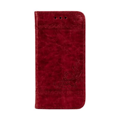 iPhone 7 Plus Smart PU Leather Wallet Flip Case Stand With Card Holder - Red