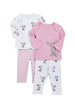 Disney 2 Pack of Minnie Mouse Pyjamas - Pink