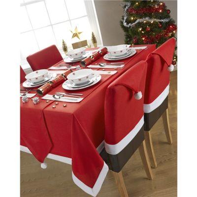 Hamilton McBride Santa's Table Red & White Oblong Table Runner - 33x183cm (13x72