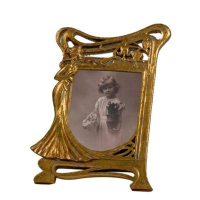 Art Nouveau Gold Gilt Leaf Photo Frame Width: 18cm