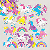 Rainbow Unicorn Foam Stickers for Children to Decorate and Personalise Arts and Crafts (Pack of 120)