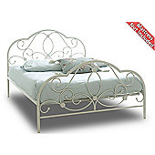 Sareer Alexis Metal Bed Frame - Double 4ft6 - White