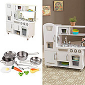 Kidkraft Vintage White Kitchen With Accessories and Food