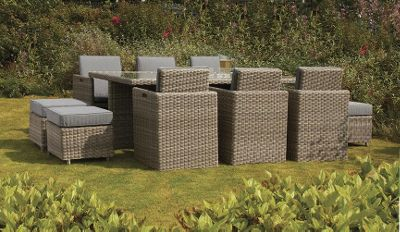 Royalcraft Wentworth 10 Seater Garden Cube set