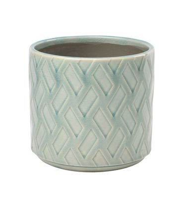 Burgon & Ball Barcelona Glazed House Plant Pot in Celadon Green