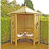 Classic Corner Arbour by Finewood
