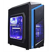 Cube Intel Esport Blue LED Mini Gaming PC 8GB 1TB GTX 1050 2GB WIFI Win 10