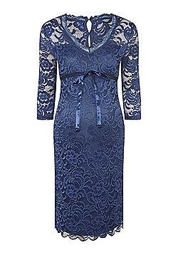 Mamalicious Lace Maternity Dress - Blue