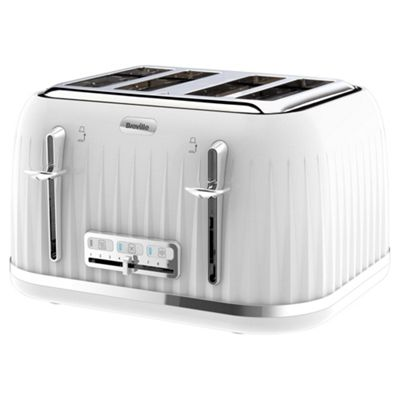 Breville VTT470 Impressions Retro 4 Slice Toaster - White