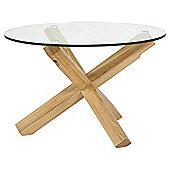 Glass & Cross Coffee Table