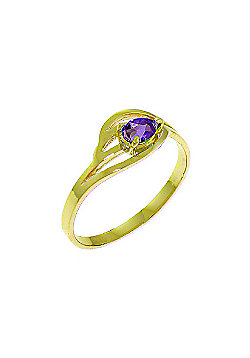 QP Jewellers 0.30ct Amethyst Pear Strand Ring in 14K Gold